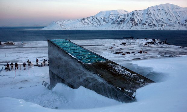 The Svalbard 'doomsday' seed vault was built to protect millions of food crops from climate change, wars and natural disasters. Photograph: John Mcconnico/AP
