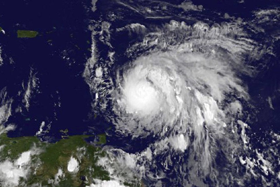 Satellite imagery of Hurricane Maria. NASA / AP.