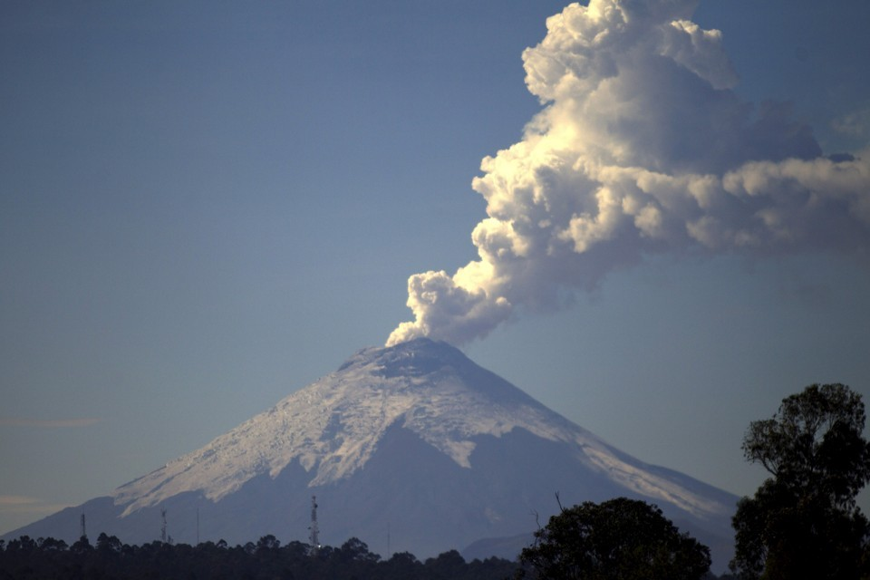 The Cotopaxi Volcano, one of the world's highest active volcanoes in Ecuador (Guillermo Granja / Reuters)